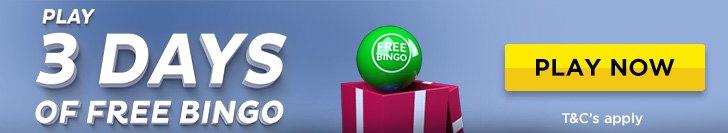 3 days of free bingo